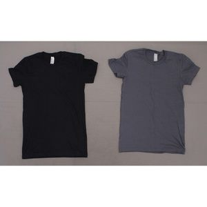 NEW American Apparel LOT OF 2 T-Shirts Small
